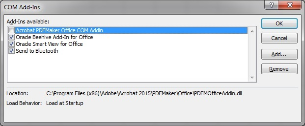 Enabling And Disabling Smart View And Other Office Add Ins