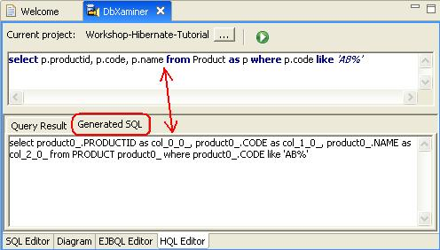 How to write select query in hibernate using hql