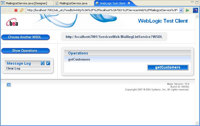 test web services:
