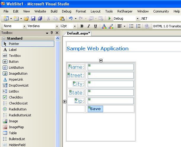 Coherence 3.2 for .NET : Sample Web Application