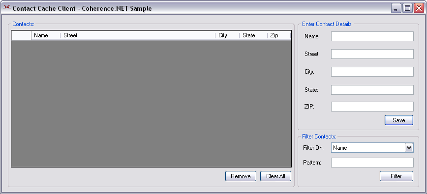 Coherence 3 2 For Net Sample Windows Forms Application