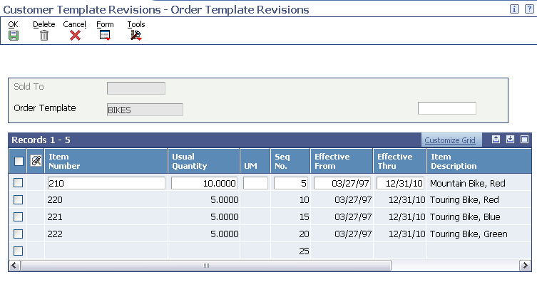 Setting Up Order Processing Information