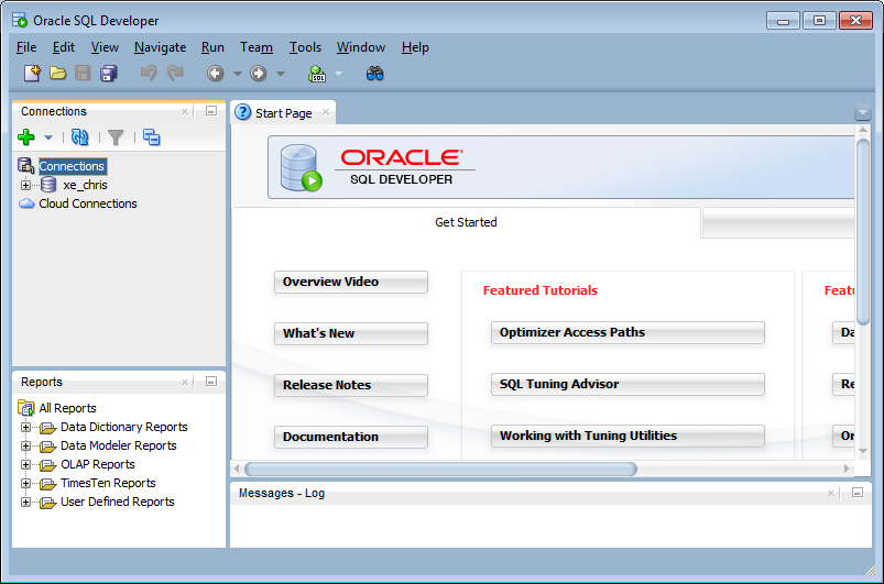 Database express edition getting started guide contents - Create table in oracle sql developer ...