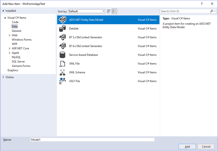 4.6 Tutorial: Using an Entity Framework Entity as a Windows Forms ...