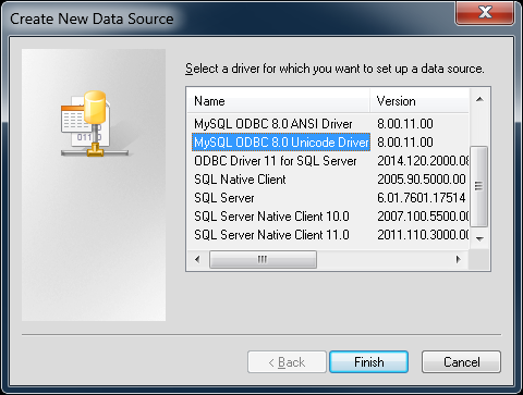 5 3 1 Configuring a Connector/ODBC DSN on Windows with the