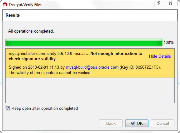 2 1 3 3 Signature Checking Using Gpg4win for Windows