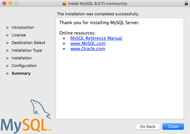 2 4 2 Installing MySQL on macOS Using Native Packages