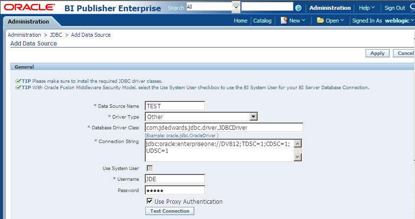Configuring Oracle BI Publisher Enterprise for Interactive