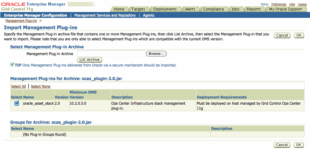 Enterprise Manager System Monitoring Plug-in for Oracle