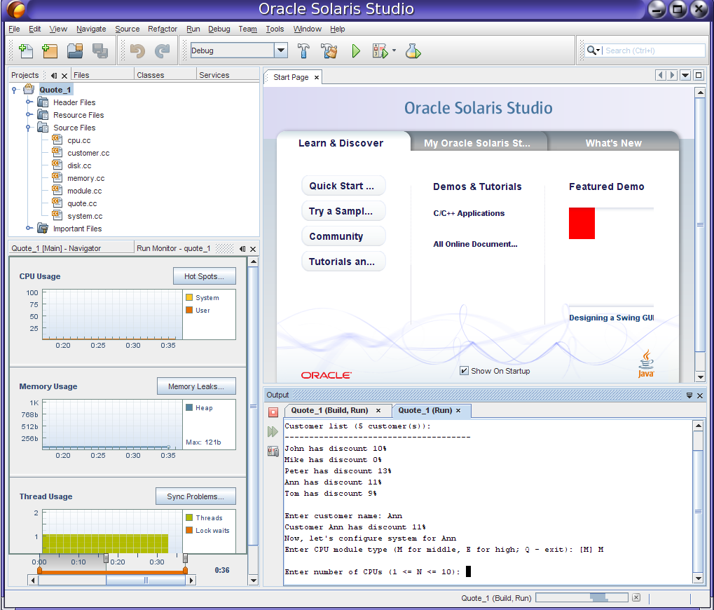 Solaris projects oracle