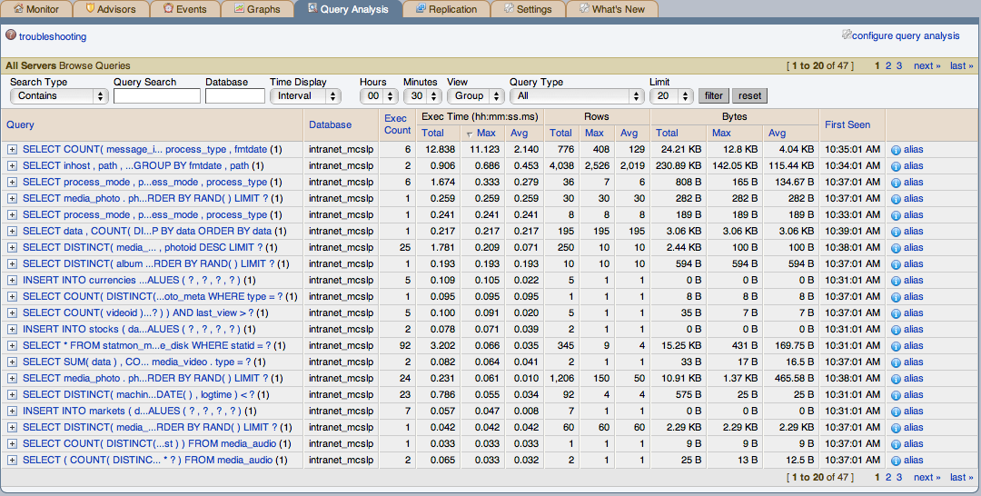 Chapter 8  The Query Analyzer Page