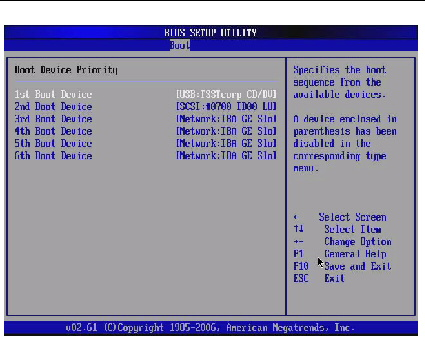 how to set up dell boot priority in bios