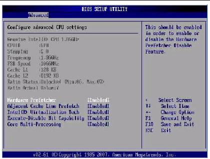 BIOS Screens