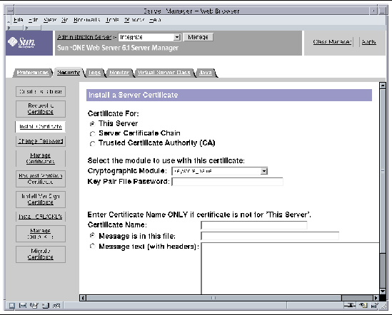 Installing And Configuring Sun Java System Application