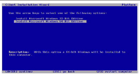 Install windows server 2003 operating system.