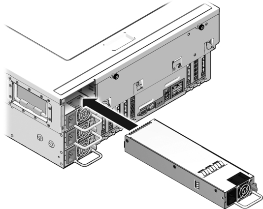 Install a Power Supply - Sun SPARC Enterprise T5440 Server Topic Set