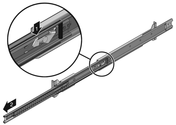 Delicieux Figure Showing How To Release The Slide Rail Lock.
