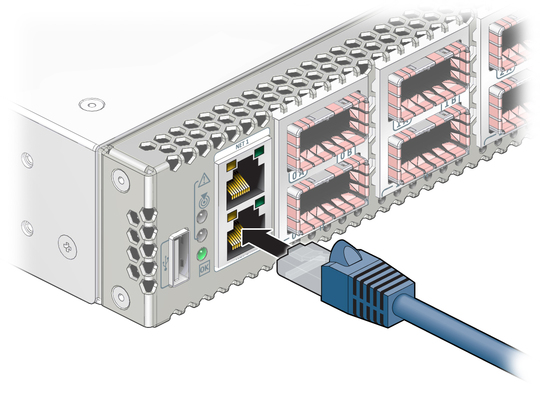 Attach The Management Cables Sun Datacenter Infiniband Switch 72