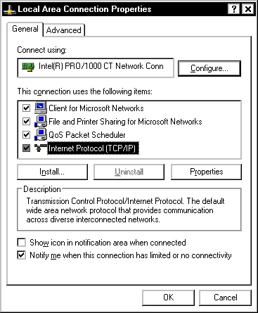 Configure a Windows PC for a Point-to-Point Connection - Sun