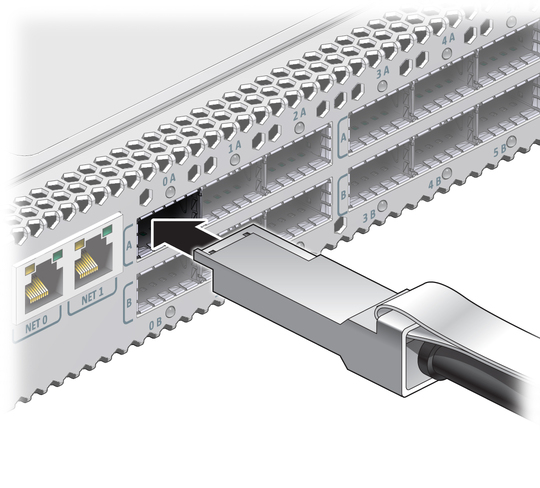 Install a data cable sun network qdr infiniband gateway switch illustration shows the data cable being installed publicscrutiny Image collections