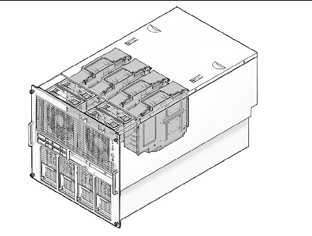 Figure illustrating the location of the CPU modules in the SPARC Enterprise M5000 server.