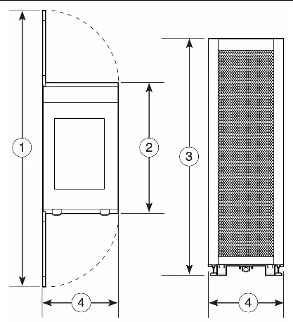 Figure Showing Sun Rack 900 With Cabinet Extender Top And Front Dimensions