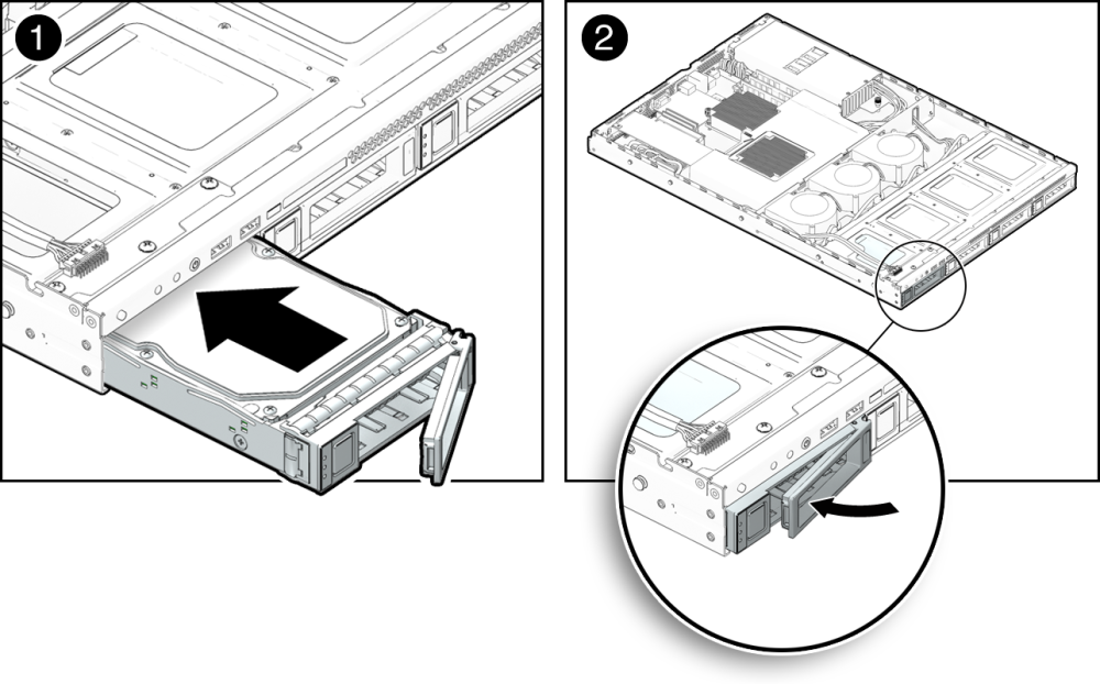 how to install a removable hard drive assembly