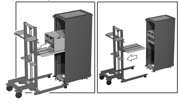 ImageFigure Showing The Chassis Sliding In From A Mechanical Lift