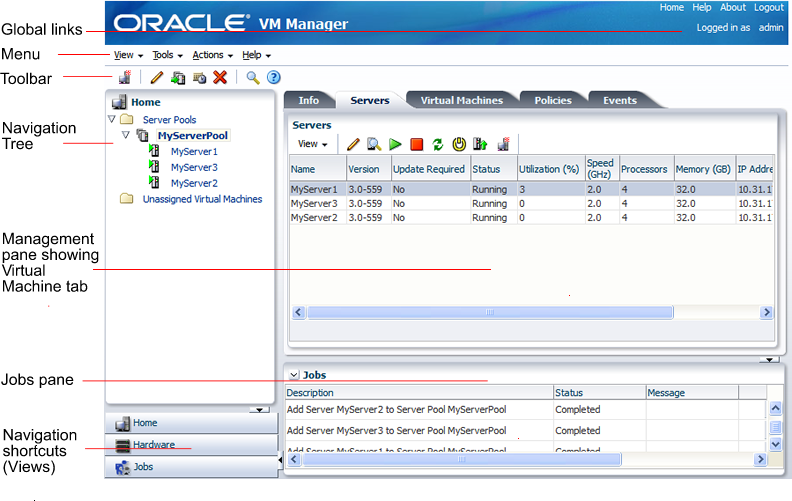 how to use oracle vm