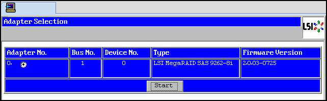 Make a Virtual Drive Bootable (LSI WebBIOS Utility) - Sun