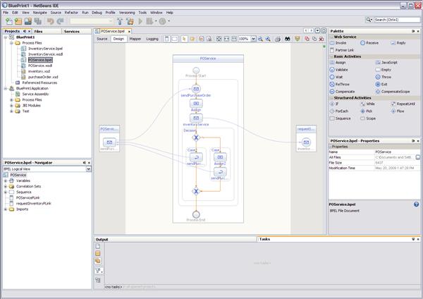 Navigating in the BPEL Designer - Oracle Java CAPS BPEL