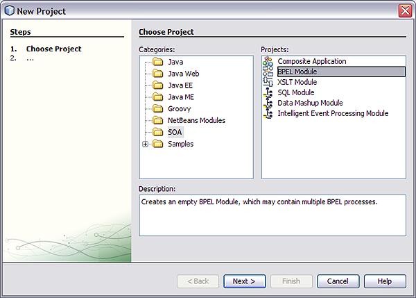 Creating sample bpel business processes oracle soa bpel process.