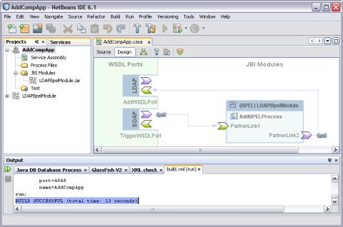 Deploying a Composite Application - Oracle Java CAPS LDAP Binding
