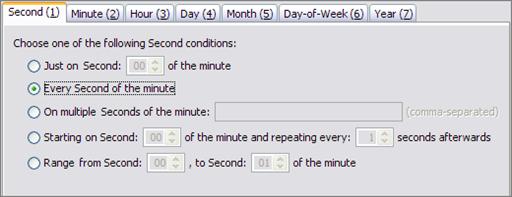 Creating Cron Triggers - Oracle Java CAPS Scheduler Binding