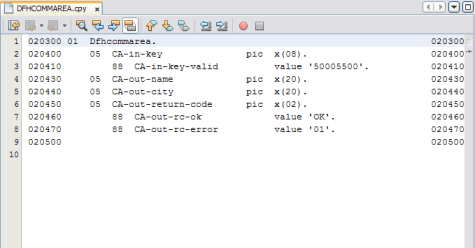 Creating the Project Files - Oracle Java CAPS COBOL Copybook