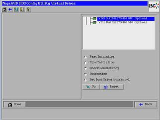 Make a RAID Volume Bootable Using the LSI WebBIOS