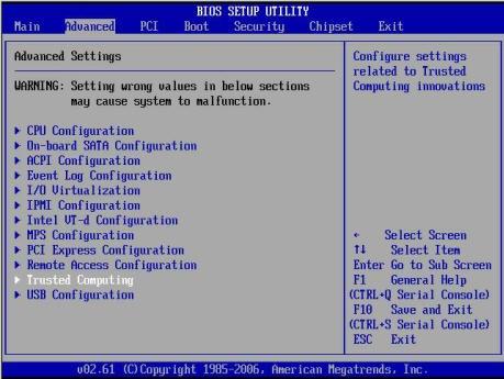 Server Node Basic Input/Output System (BIOS)