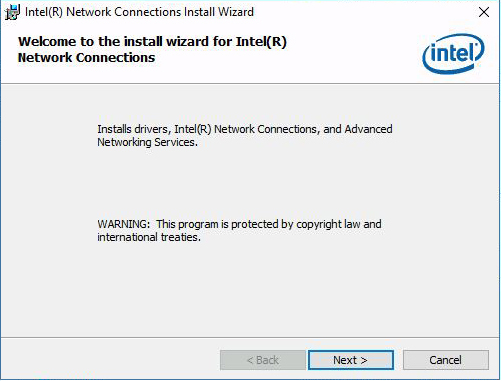 image:Picture of installation wizard starting.