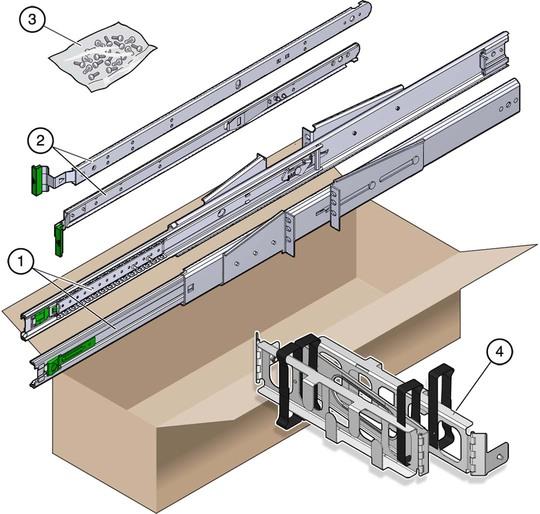19 Inch 2 Post Rack Sliding Rail Rackmount Kit Netra
