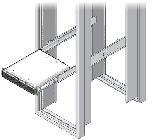 Install The Server 19 Inch 4 Post Sliding Rail Rackmount