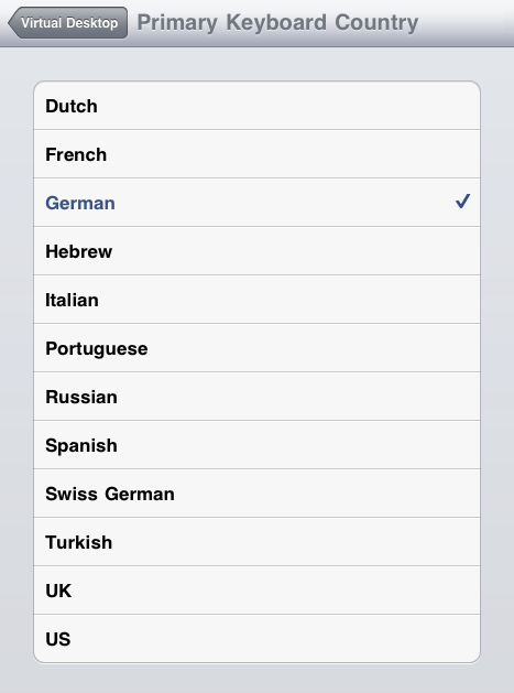 how to change keyboard country settings