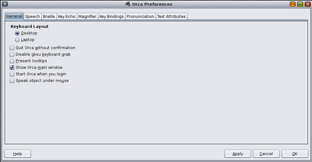 Orca Screen Reader and Magnifier - Oracle Solaris 11 Accessibility