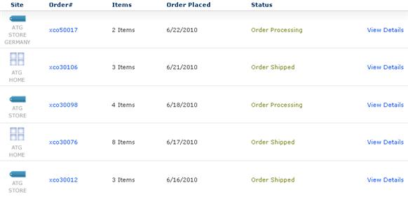 oracle atg web commerce order history rh docs oracle com order history microsoft order history report amazon uk