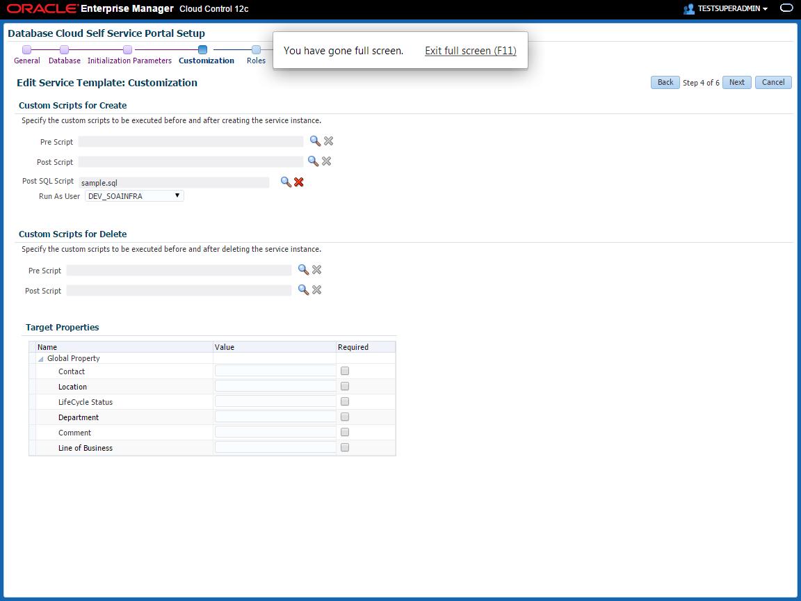 Setting Up the SOAaaS or the OSBaaS Self Service Portal