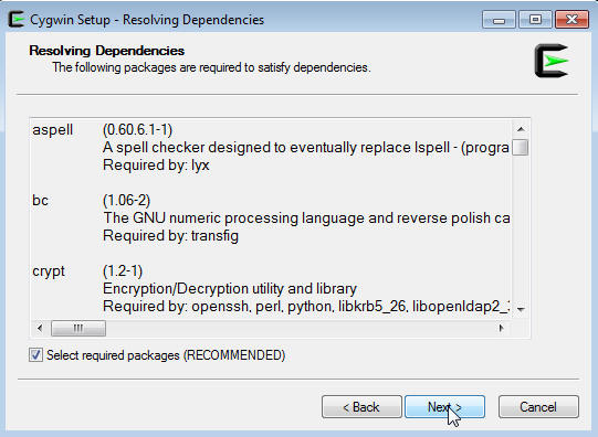 Installing Cygwin and Starting the SSH Daemon