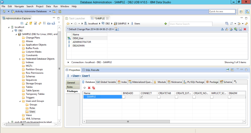 Configuration for the IBM DB2 Database Plug-in