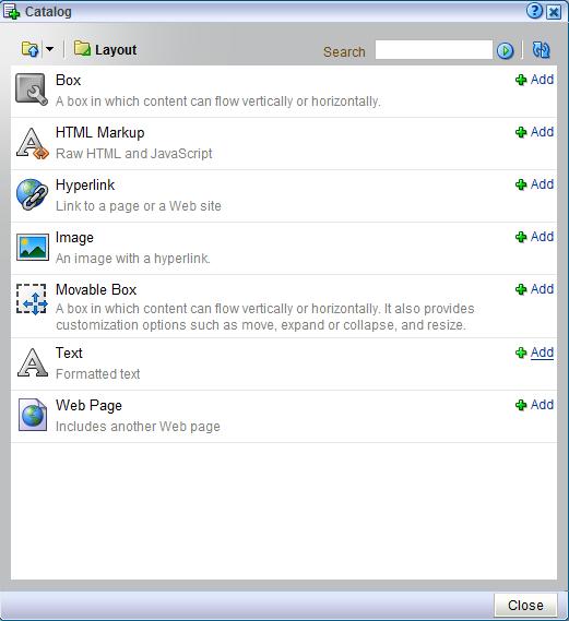 Building Portal Pages for WebCenter