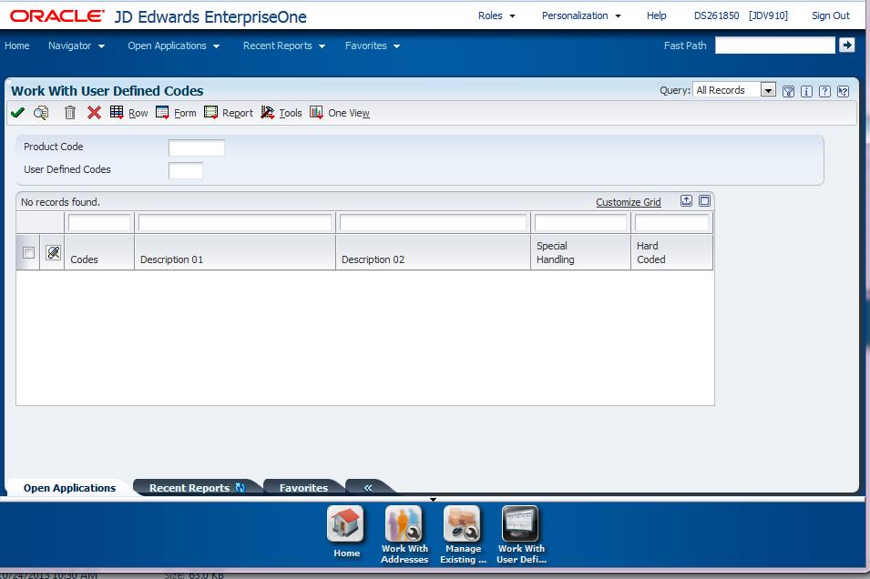 using the jd edwards enterpriseone web application user interface rh docs oracle com jd edwards 9.2 user manual jd edwards user guide pdf