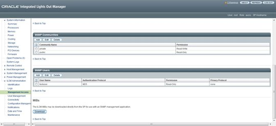 Set SNMP Read and Write Access and Authorization - Oracle