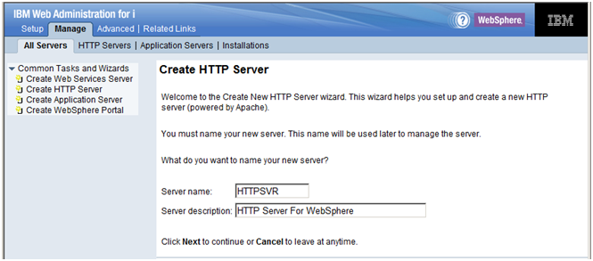 5 Configuring IBM HTTP Server for IBM i to Support the HTML Server